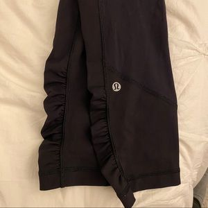 Lululemon Cropped Tights with Shirring Detail